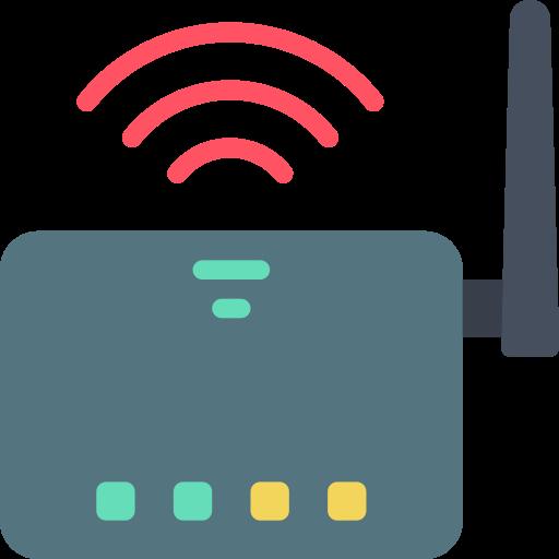 bild på router med wifi